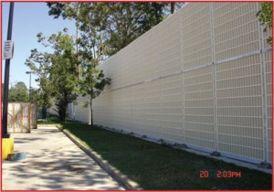 Commercial sound barrier walls