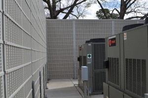 commercial hvac noise reducing wall