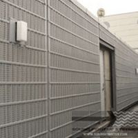 Noise absorbing material exterior sound absorbing panels - Exterior noise barrier materials ...