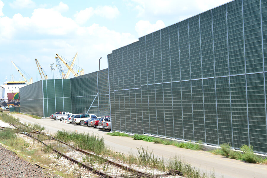 absorptive sound barrier panels