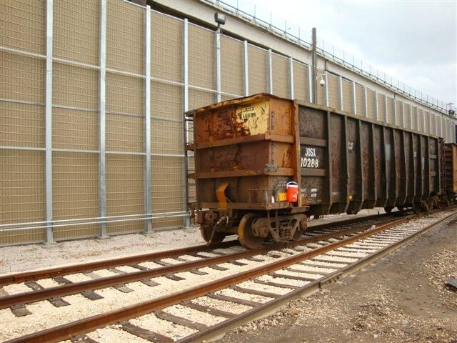rail road noise absorbing wall
