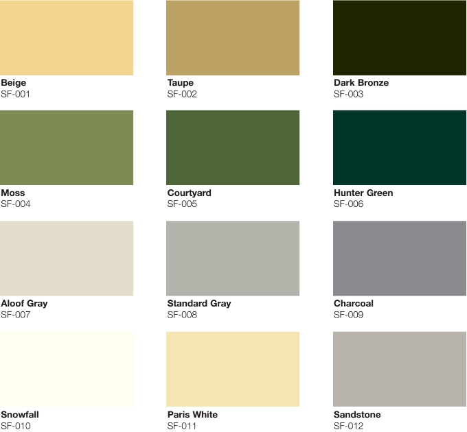 Noise Barrier Wall Panel Color options