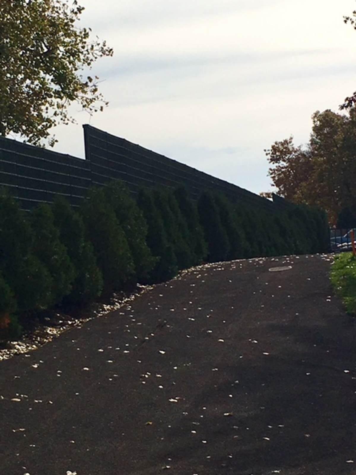 outdoor sound barrier walls