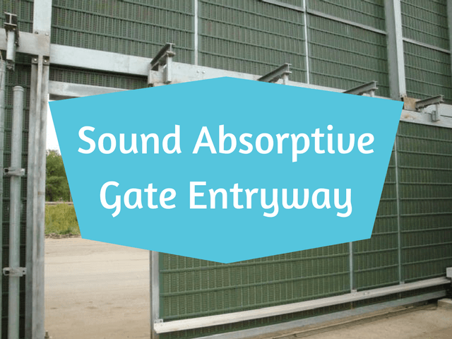 commercial sound absorptive gate entryway