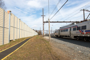 train noise barrier walls
