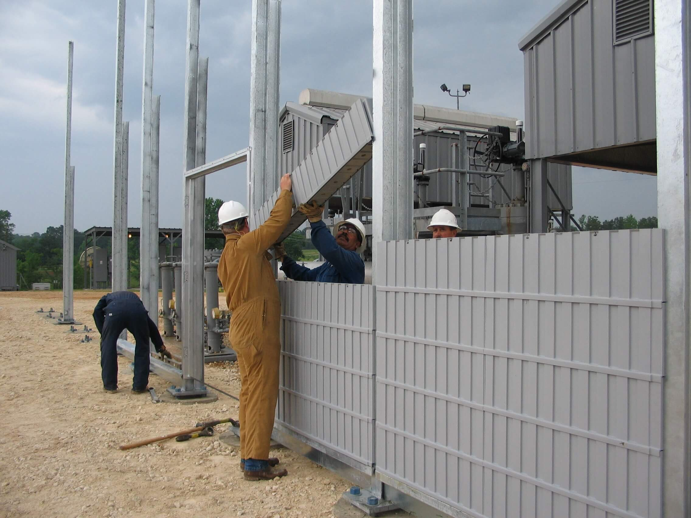 noise barrier wall installation