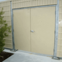 Personnel Doors absorptive noise barrier